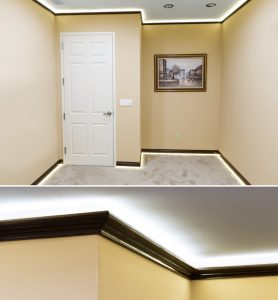 LED cove lighting - crown molding lights