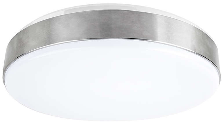 flush mount led ceiling light - low profile - front and side