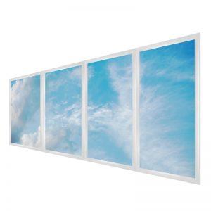 LED skylights - multi LED panel light display - 4 panels large