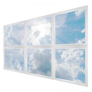 LED skylights - multi LED panel light display - 6 panels