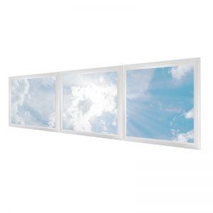 LED skylights - multi LED panel light display - 3 panels