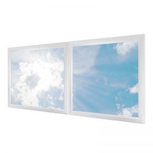 LED skylights - multi LED panel light display - 2 panels