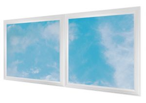 LED skylights - multi LED panel light display - white frame