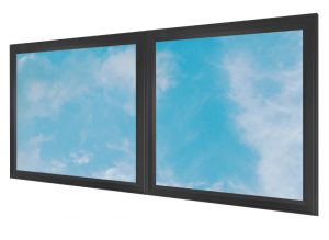 LED skylights - multi LED panel light display - black frame