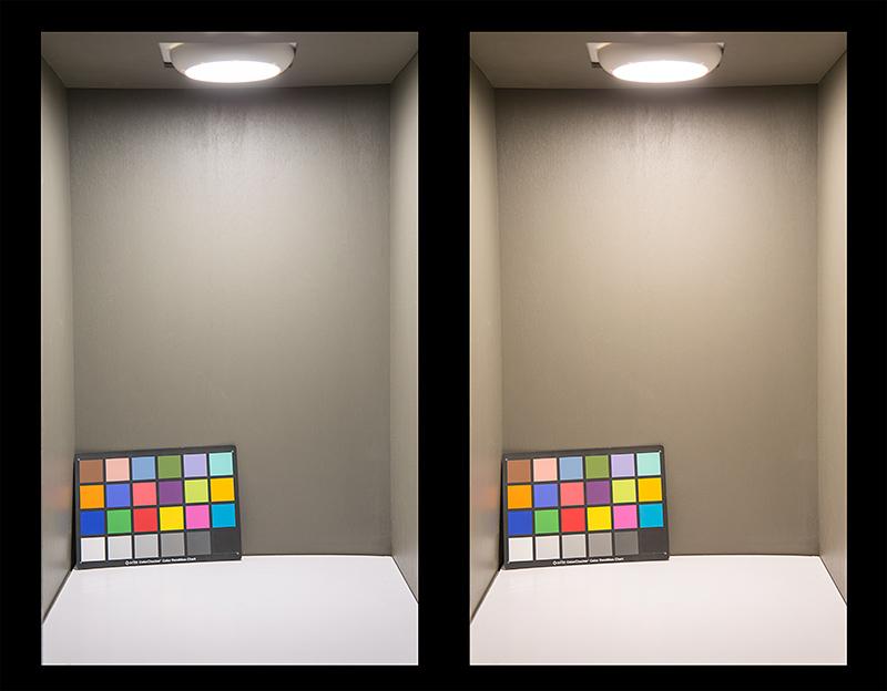 flush-mount LED ceiling light - LED disk light color temperature