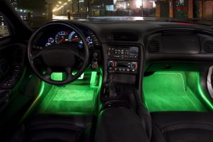 father's day gifts - LED strip lights in footwell