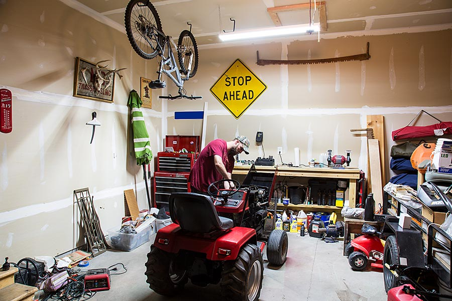 father's day gifts - LED garage light on