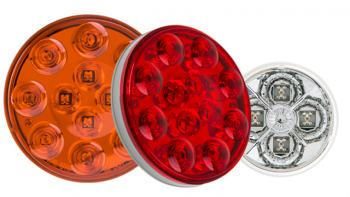 commercial LED truck lights - round LED tail lights