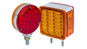 commercial LED truck lights - double sided LED pedestal lights