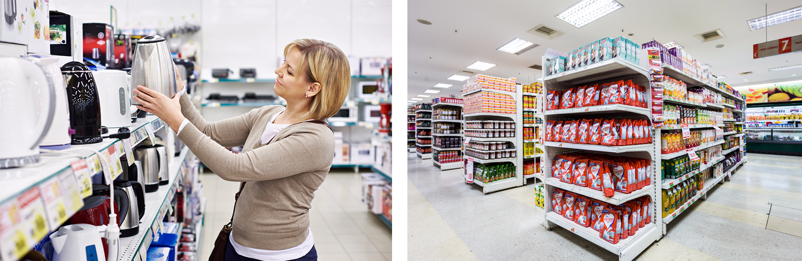 led retail lighting - bright stores