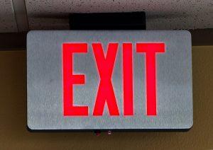 LED retail lighting - emergency exit lights