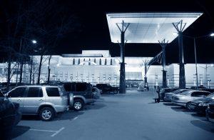 LED retail lighting - parking lot