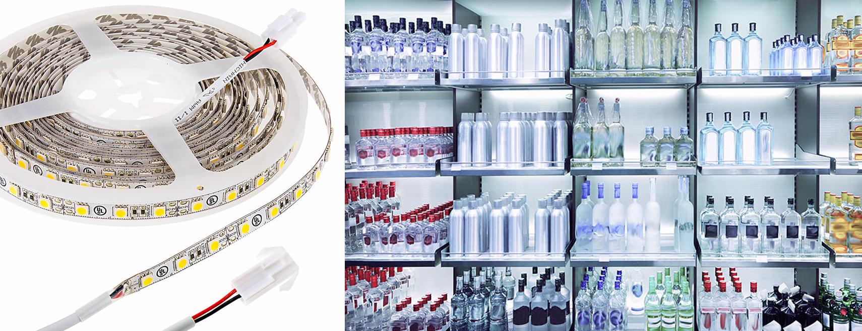 LED retail lighting - LED strip lights shelf lighting