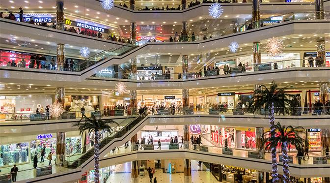 led retail lighting - mall