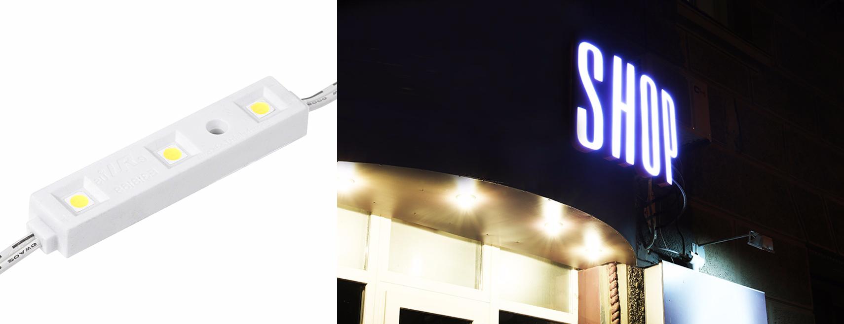 LED retail lighting - LED sign modules