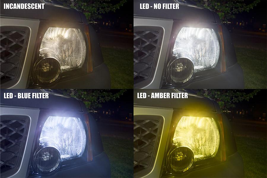 led headlight bulbs - adjustable color temperature - film colors