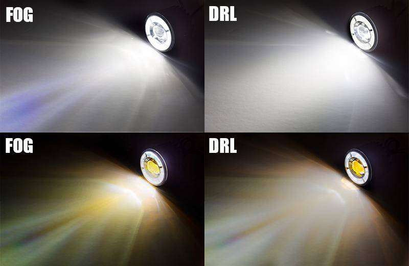 projector LED fog lights - all colors
