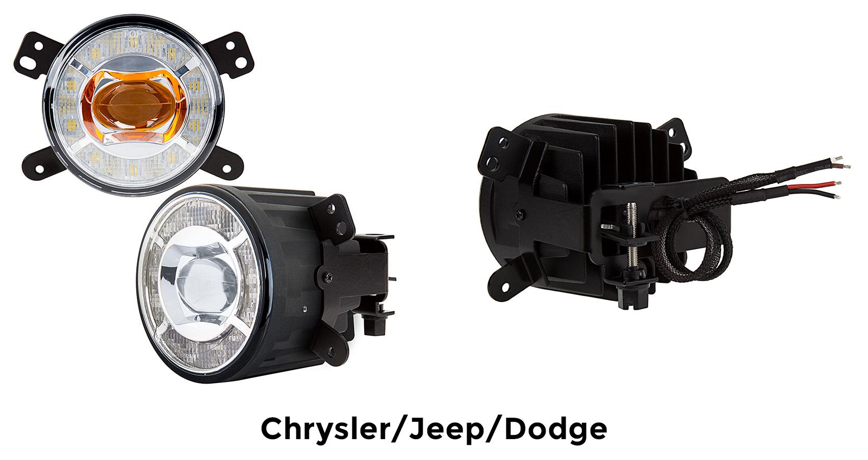 projector LED fog lights - chrysler - jeep - dodge