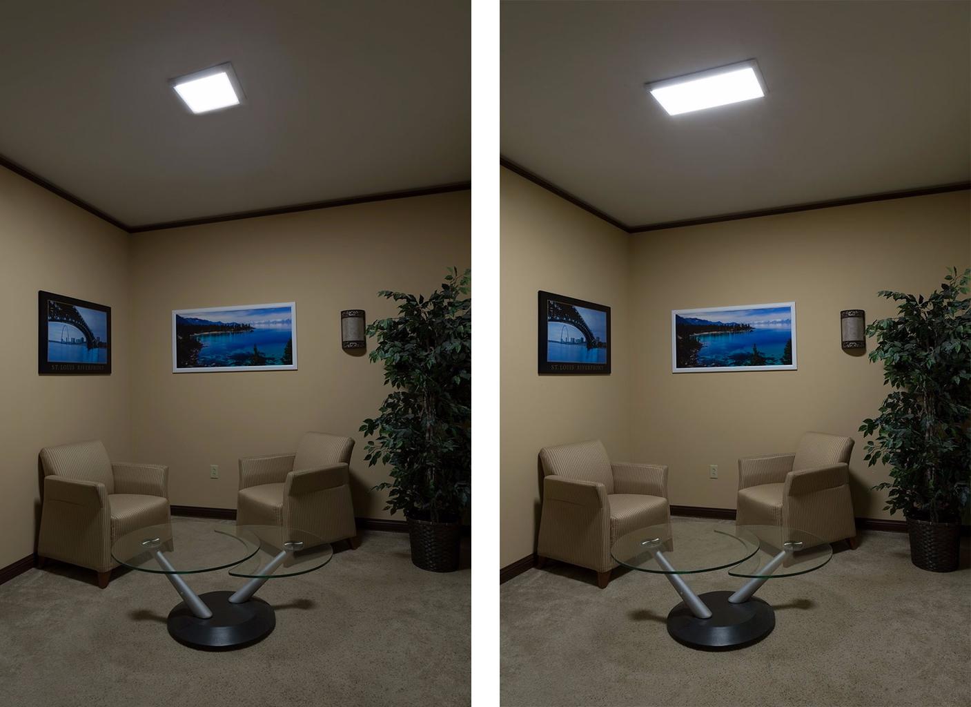 flush-mount led panel lights - ceiling lights