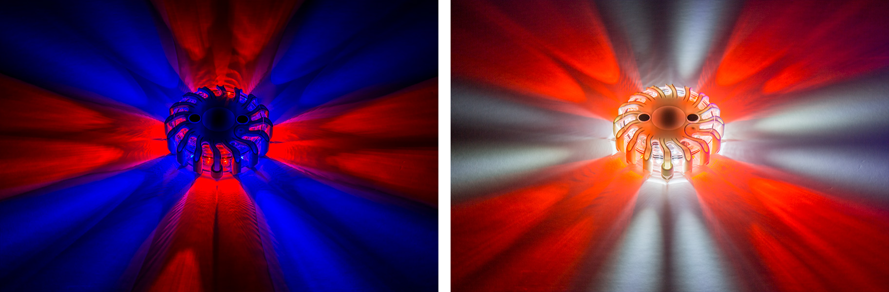 LED road flares - dual-color lights