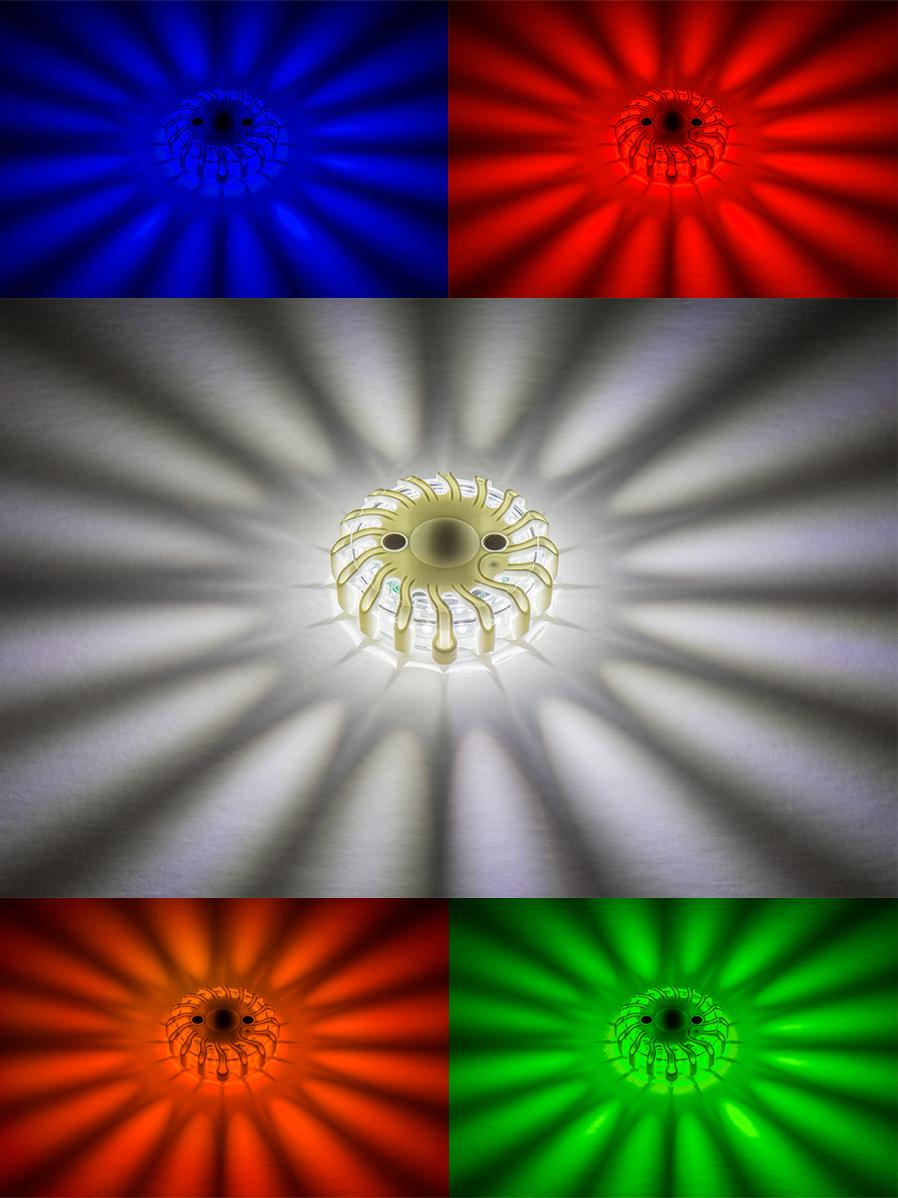 LED road flares - single-color lights