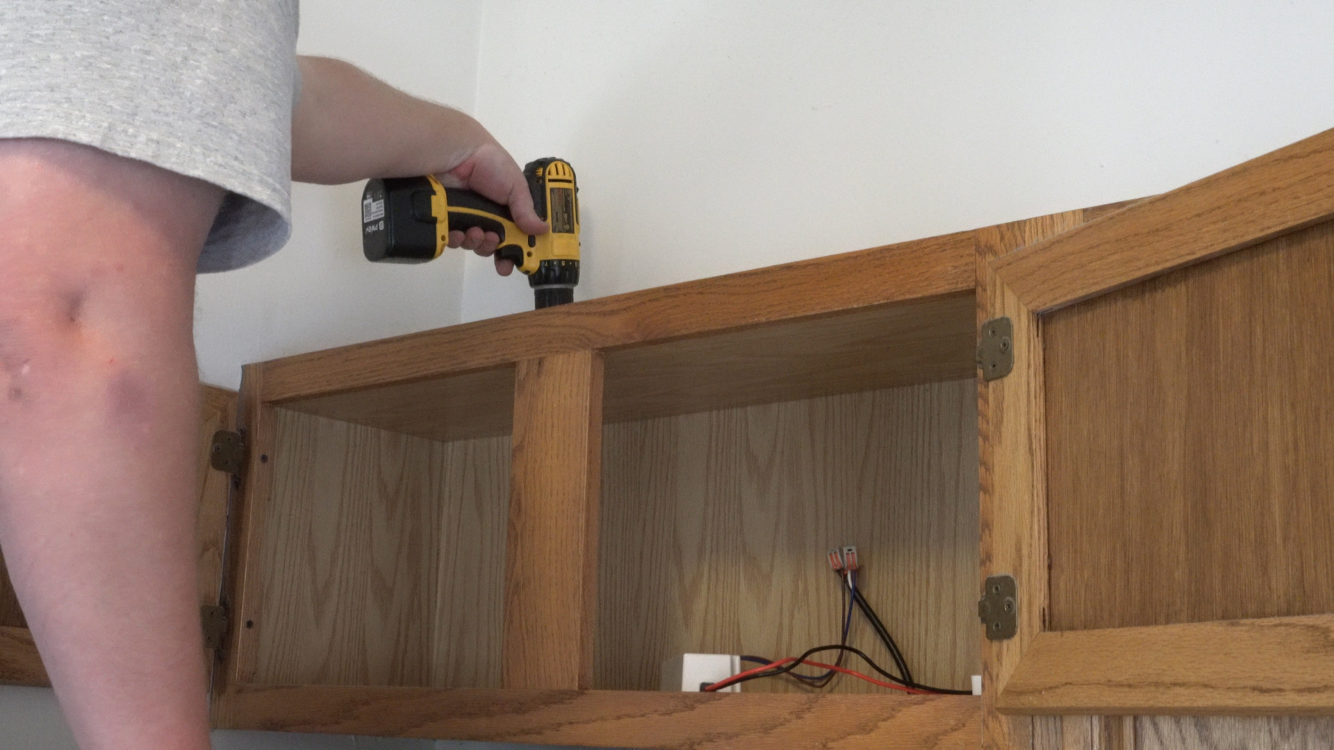 Above-Cabinet Lighting: How to Install LED Strip Lights - step 1