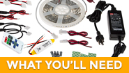 LED strip lights - what you need for LED strip lighting