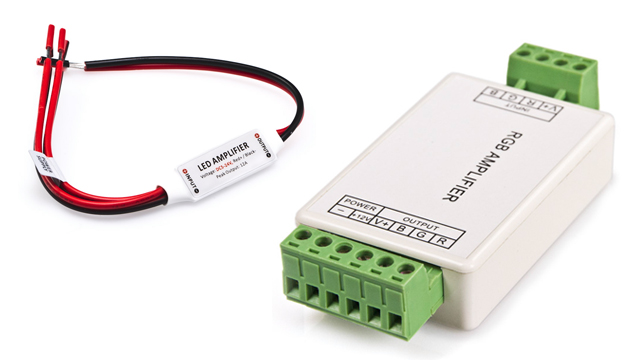 LED strip lights - amplifiers