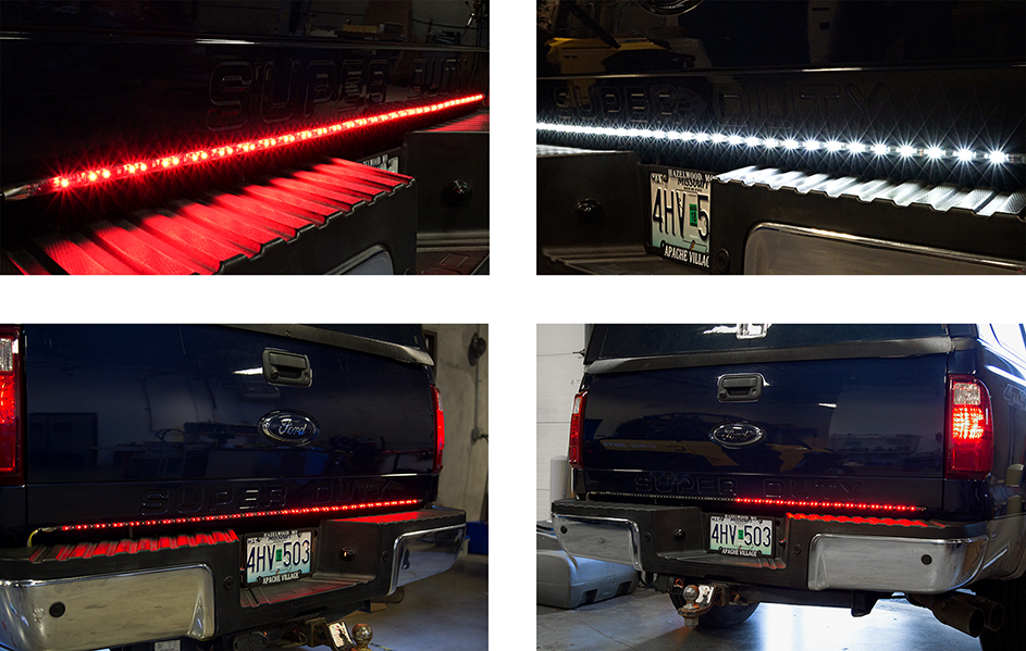 Flexible led tailgate light bars easy installation increased led tailgate light bar functions aloadofball Gallery