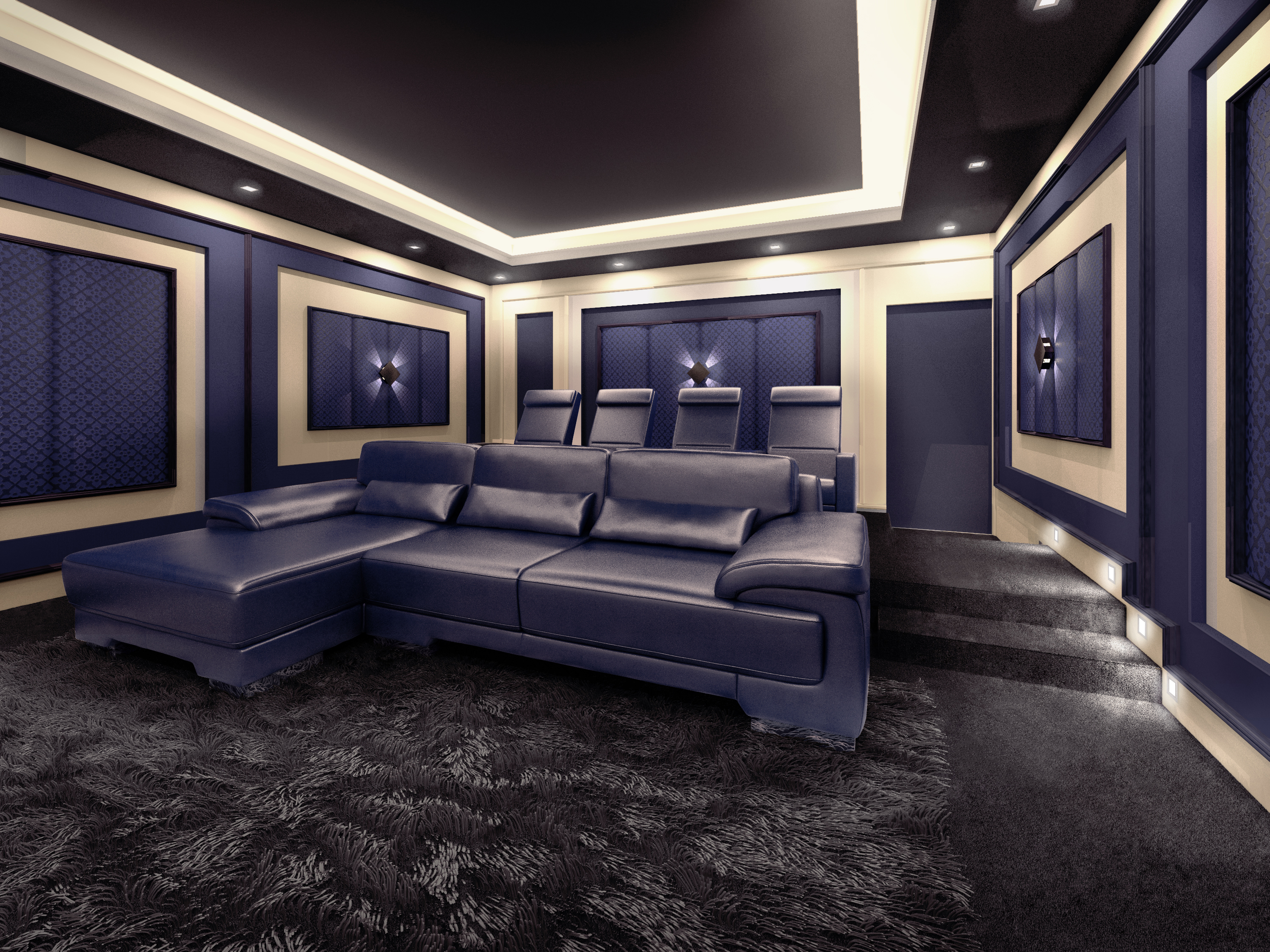 Home Theater Seating Led Lighting New Palliser Overdrive