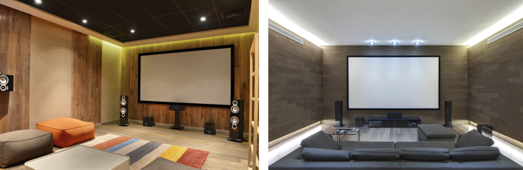 LED Cove Lighting Allows You To Add Home Theater Without Creating A Glare Or Shining Onto Your Screen This Type Of Can Be Added Behind