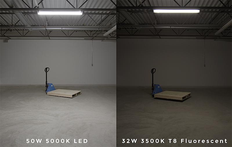cylindrical led vapor-proof lights - fluorescent comparison