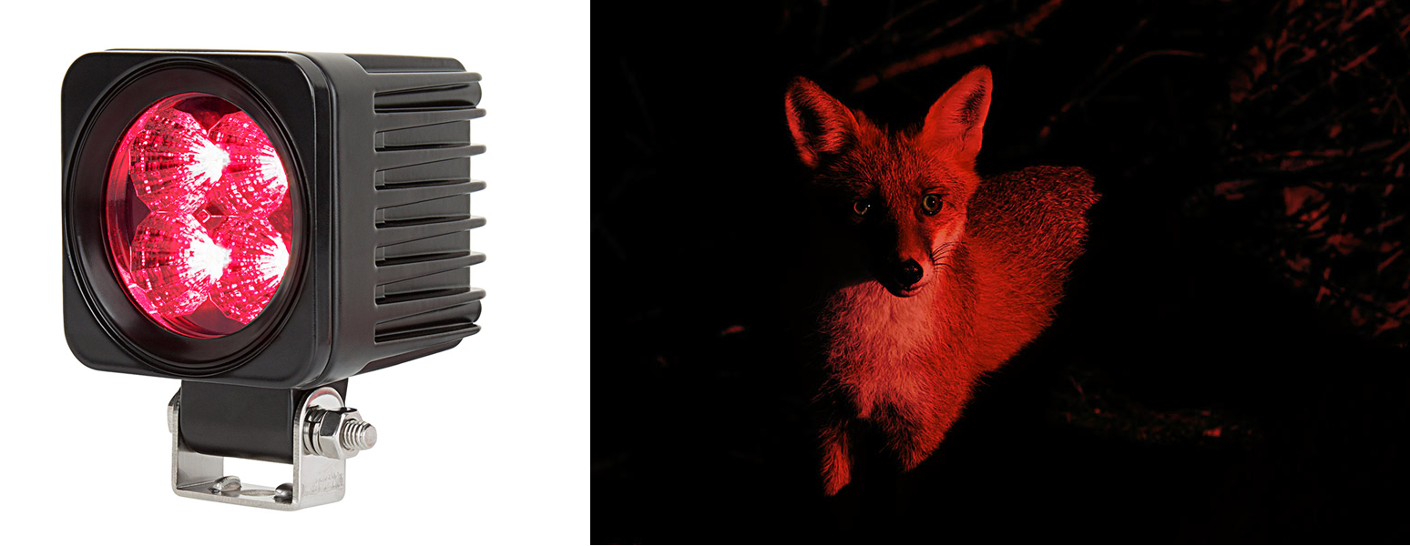 red led hunting lights