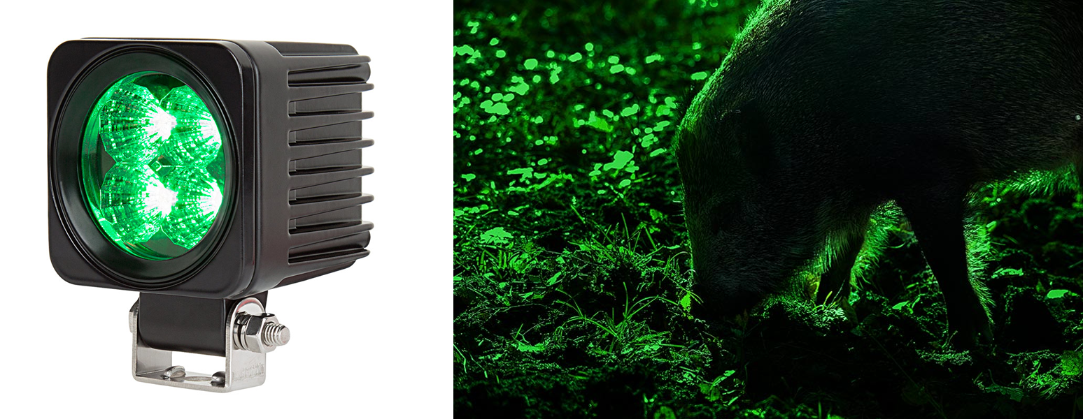 green led hunting lights