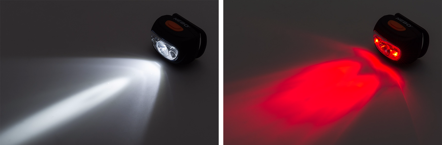 led hunting lights - red and white headlamp