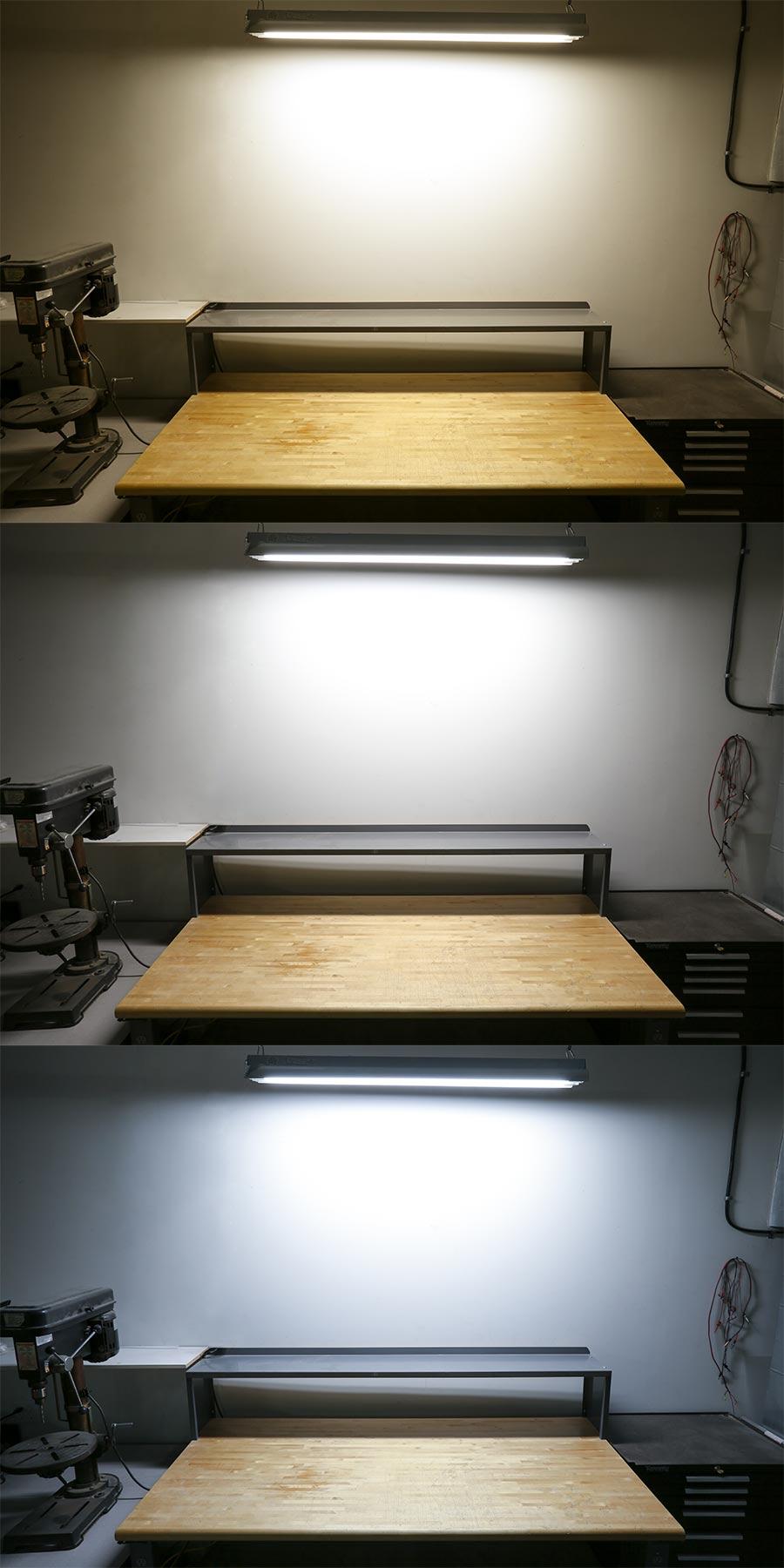 shatterproof T8 LED tube light bulb color temperatures