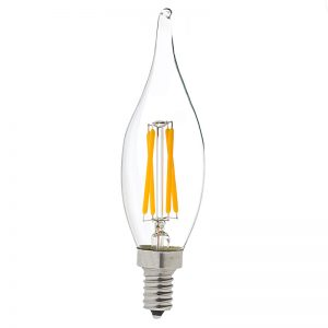 light bulb base types - CA10 LED candelabra bulb
