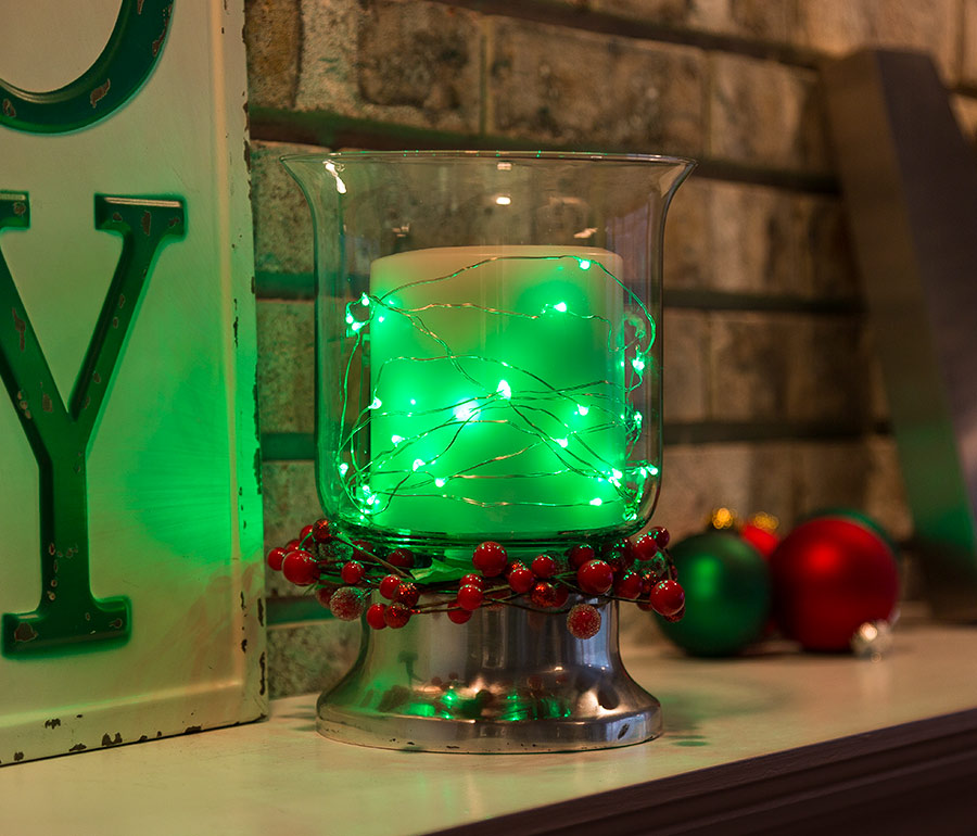 Christmas crafts - LED Christmas decorations with fairy lights
