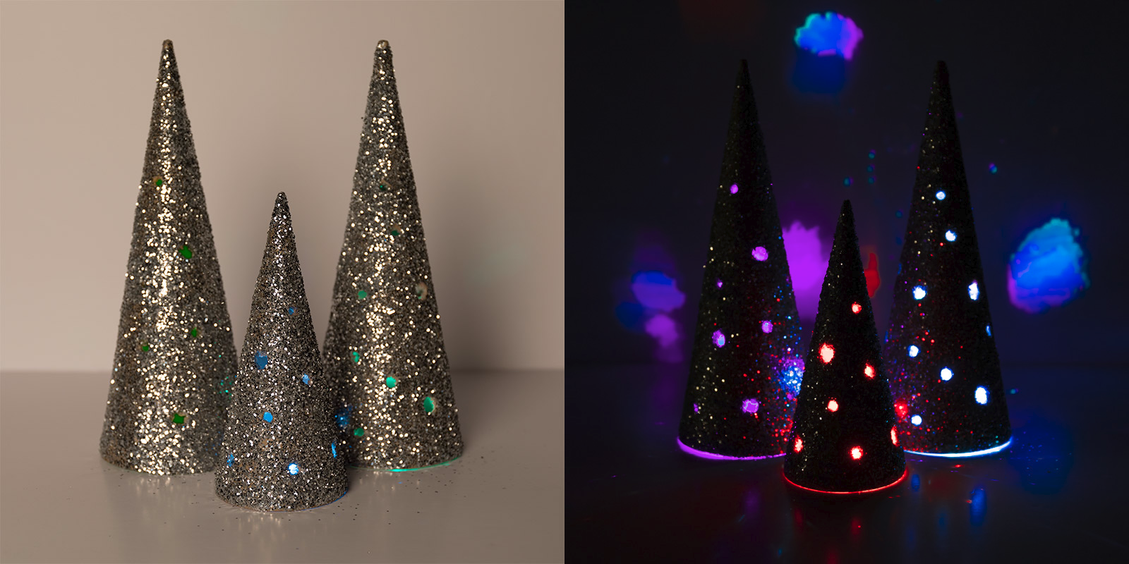 Christmas Crafts   Decorative LED Christmas Cones With LED Tea Lights