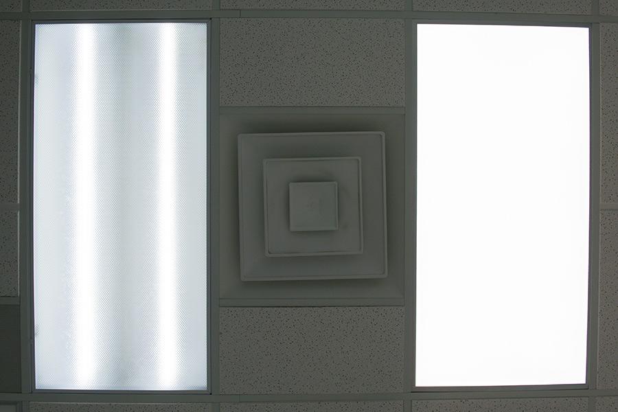 tunable white led classroom lighting - fluorescent versus led