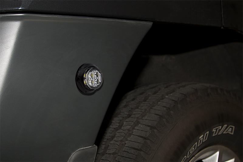 LED Hideaway Strobe Lights mounted on vehicle