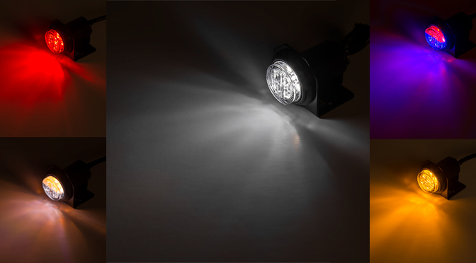 LED Hideaway Strobe Lights color options