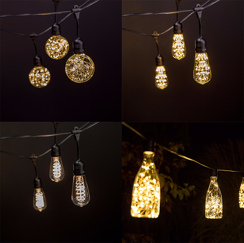 LED wedding lights - wedding string lights with decorative LED bulbs
