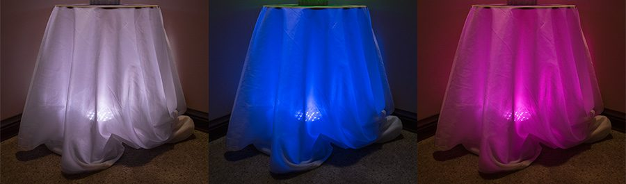 LED wedding lights - lighted centerpiece or table skirt