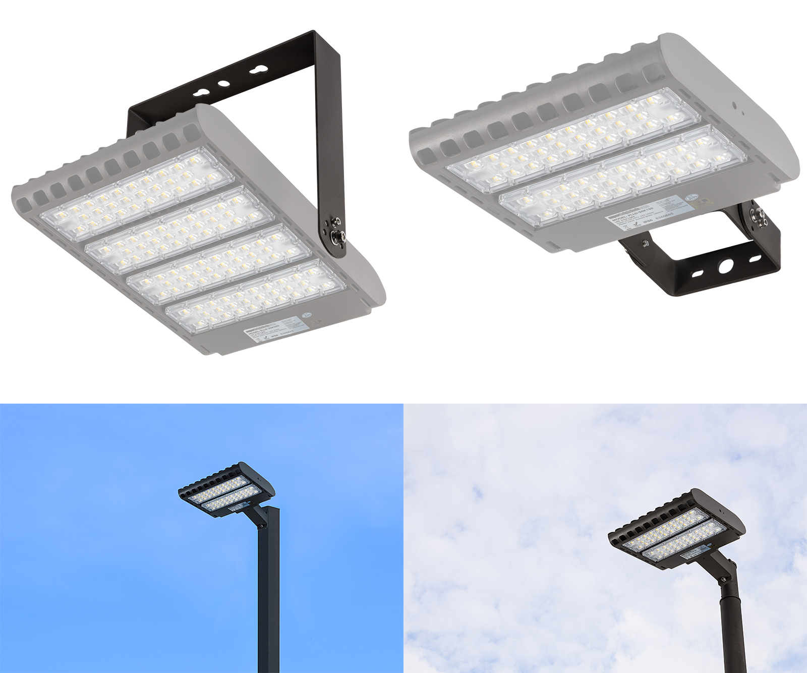 LED parking lot lights/area lights - bracket types