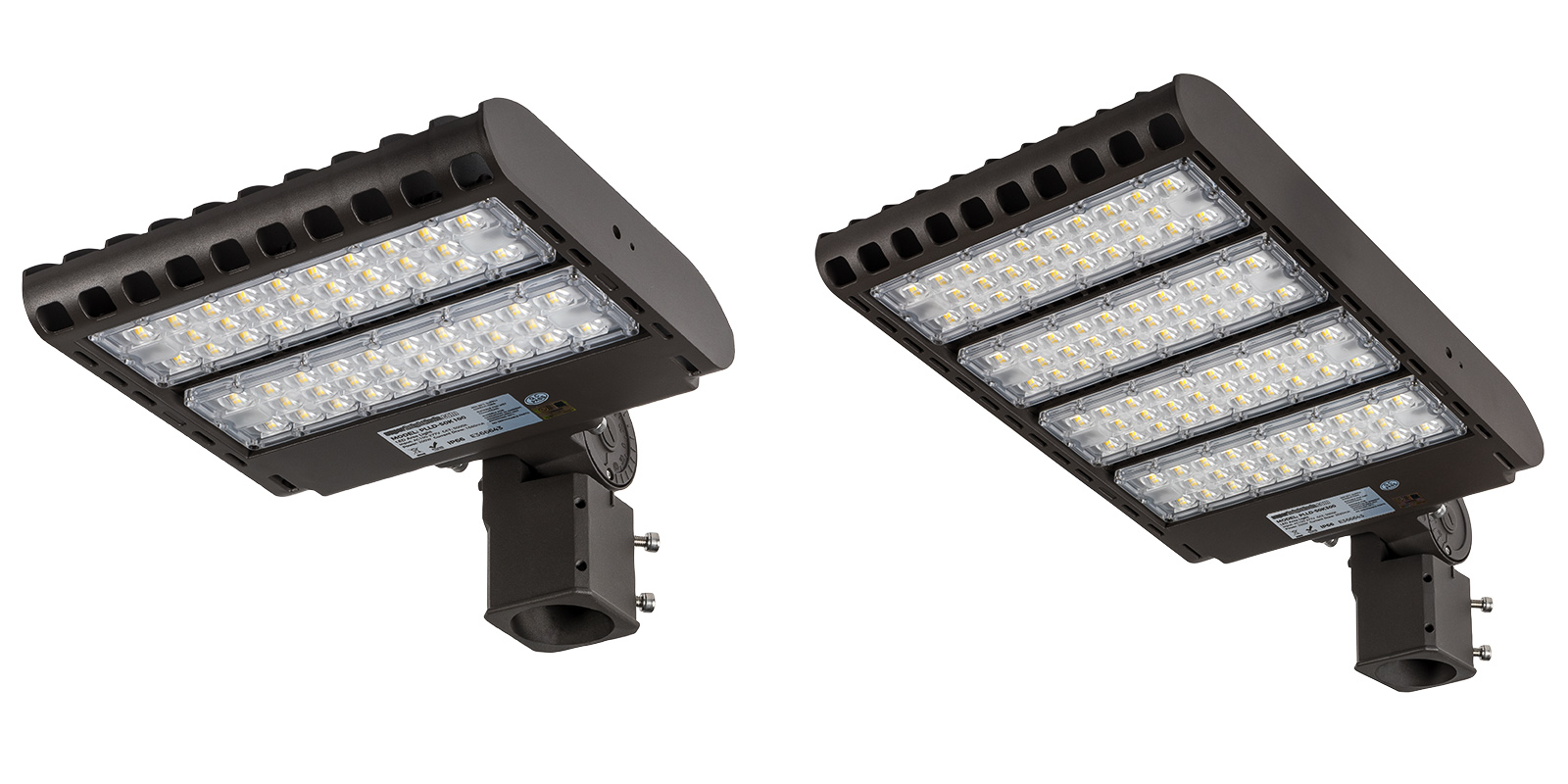 LED parking lot lights/area lights - fixture styles