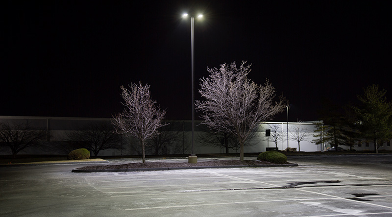 LED parking lot lights/area lights - lighting parking spaces