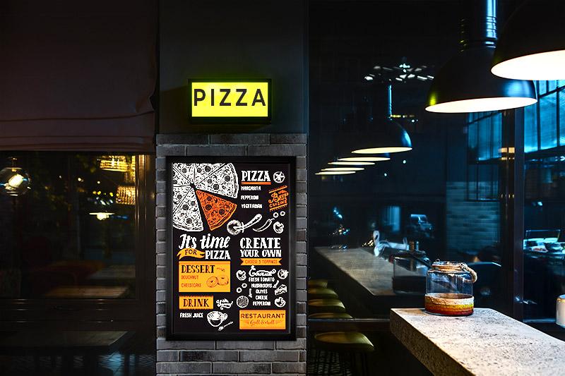 LED restaurant lighting - LED light box menu
