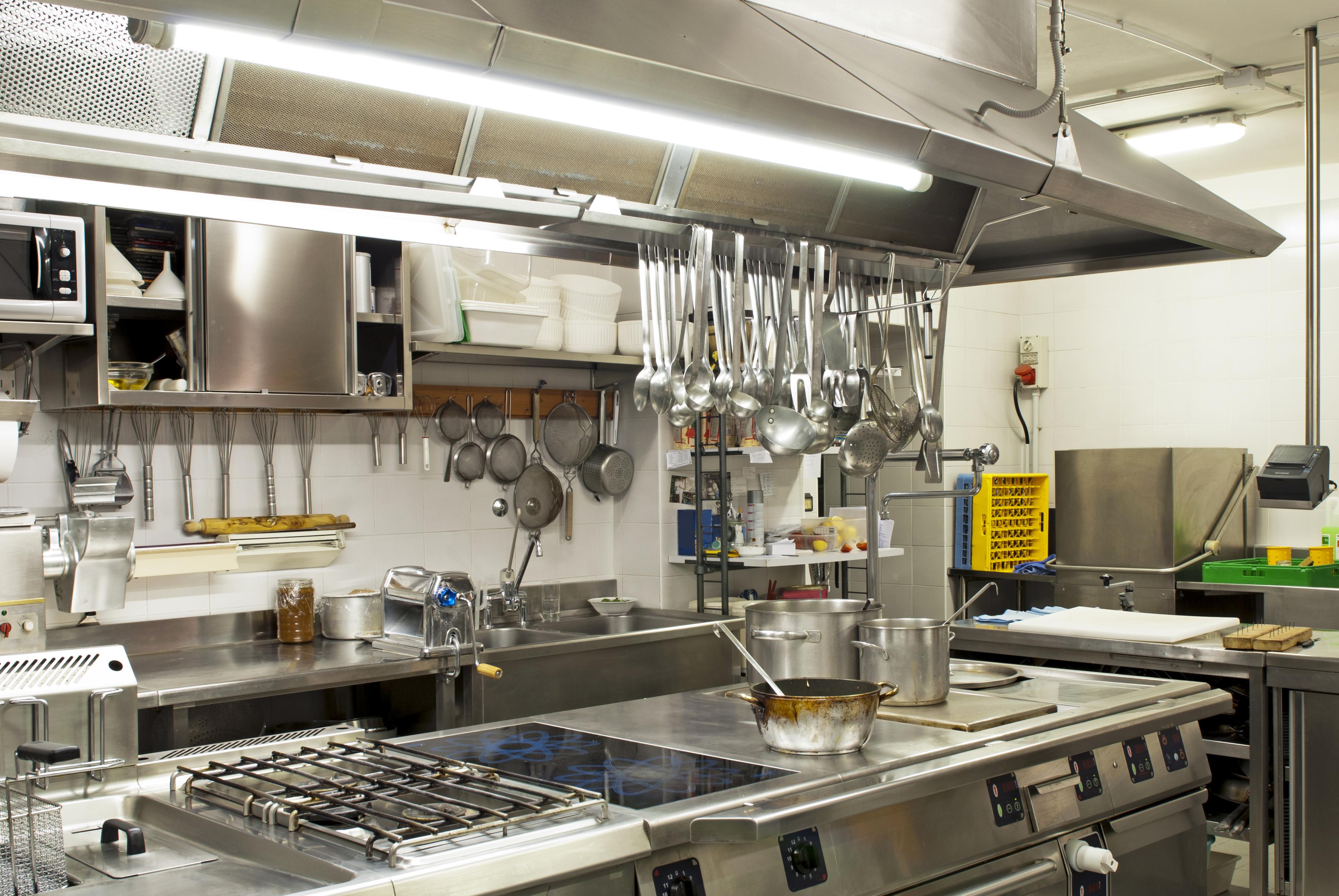 LED restaurant lighting - t8 tube lights in kitchen
