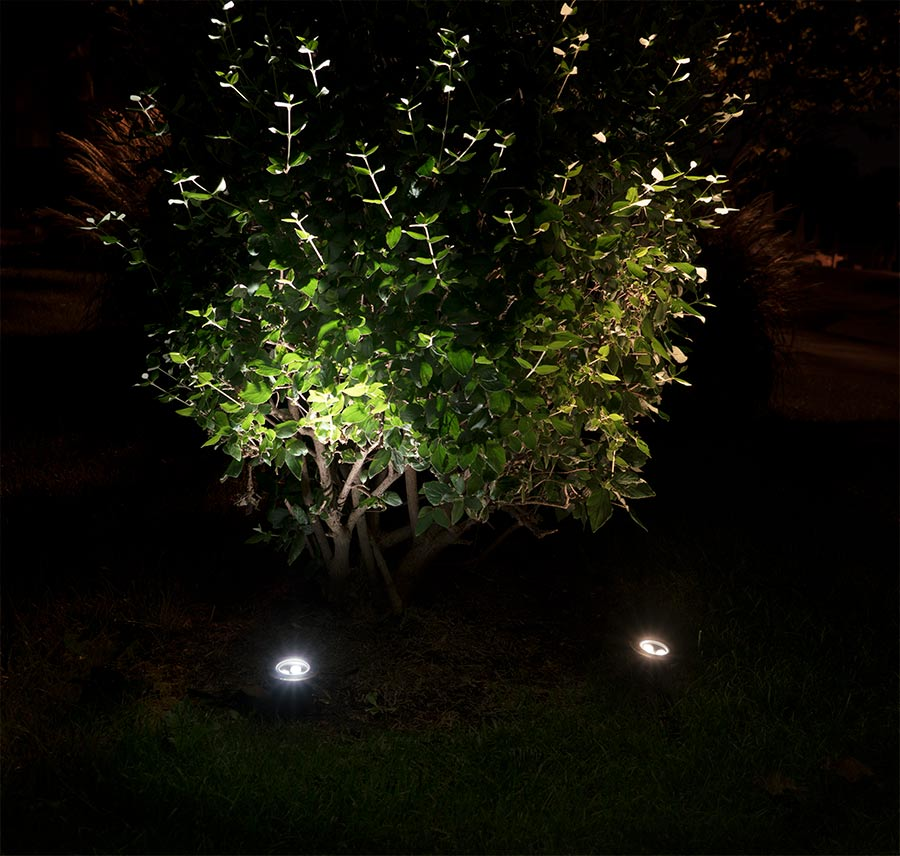 outdoor LED landscape lighting ideas - LED well lights